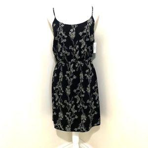 Gap Black Floral Sleeveless Sun Dress